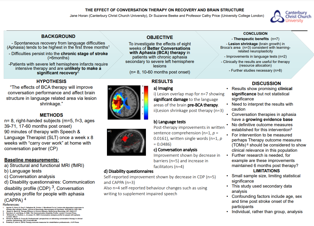 The Effect of Conversation Therapy on recovery and Brain Structure, Jane Horan Thumbnail