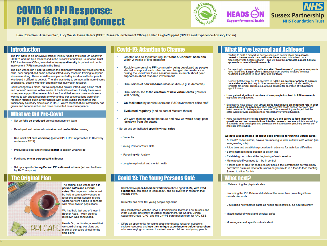 COVID 19 PPI Response: PPI Café Chat and Connect, Dr Sam Robertson Thumbnail